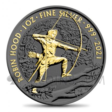 Robin Hood Gold Ruthenium 2£ 1oz 2021