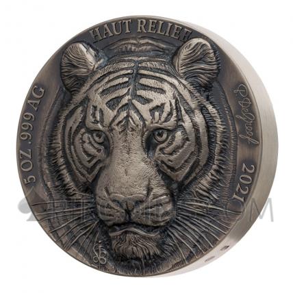Tiger - Big Five Asia 5000 Francs 5oz Ivory Coast 2021