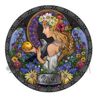 Ziva - Goddesses of Health 5 Cedis 50g Republic of Ghana 2021